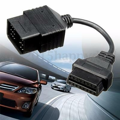 17 Pin OBD1 to 16 Pin OBD2 Connector Adapter Cable Diagnostic Line For Toyota