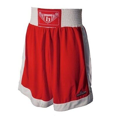 Hatton Boxing BOXING CLUB SHORTS Men's Fight Apparel RED WHITE