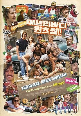 Everybody Wants Some 2016 Korean Movie Mini Posters Movie Flyers (A4 size)