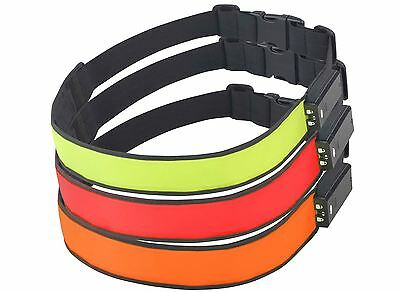 NEW Time to Run High Visibility Reflective LED Runnng Cycling Battery Belt