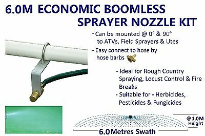 Economic 6M Swath Boomless Flat Sprayer Nozzle Kit 8.0L Weed Spot Spray Tank