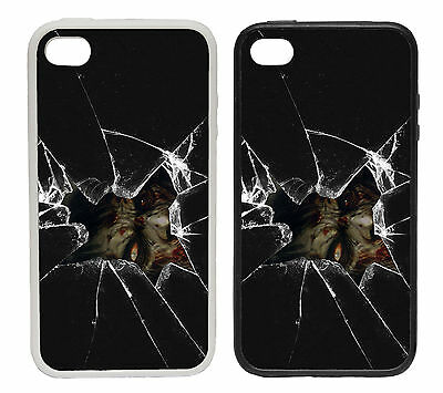 Broken Glass Zombie | Rubber and Plastic Phone Cover Case | Undead Walker Eye