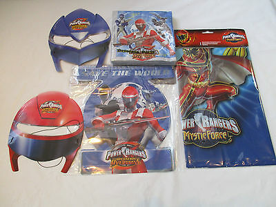 Power Rangers Party Pack for 6 Guests - Masks Napkins Banner and Tablecover