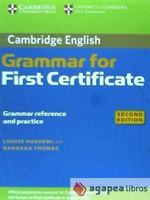 Cambridge Grammar for First Certificate without answers. NUEVO. ENVÍO URGENTE