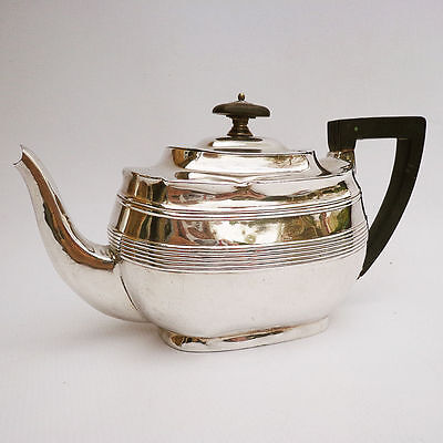 Edwardian Silver Bachelor Teapot by Harrison Brothers & Howson, Sheffield c.1907