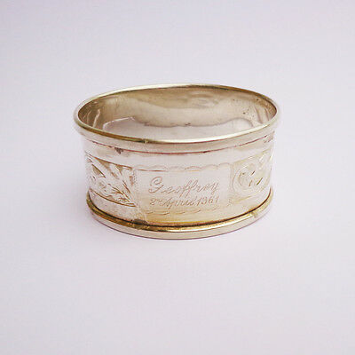 Sterling Silver Birmingham Henry Griffith & Sons Napkin Ring c.1934