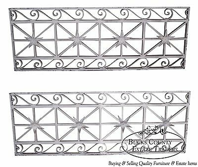 Antique Pair of Hand Wrought Iron Regency Style Wall Grates (B)