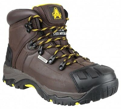 Amblers FS39 Waterproof Mens Safety Boots With Steel Toe Caps & Midsole SDirect