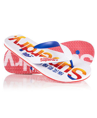 Superdry Tongs California Pour homme Blanc