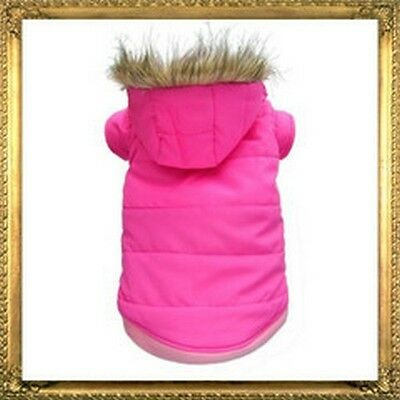 Quality Parka For Dogs * Pink Blue Black Or Chocolate *  Dcl 01
