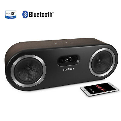 Fluance Fi50B Two-Way High Performance Wireless Bluetooth Wood Speaker System