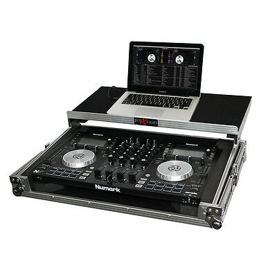ProX Hard Case for Numark NV NVII Road / Flight Case w/ Glide, BLACK with SILVER