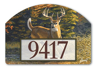 Whitetail Buck Fall Magnetic Yard DeSign & Address Marker