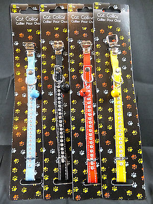 Diamante Cat Collar Blue Black Red Or Yellow   Cco 01