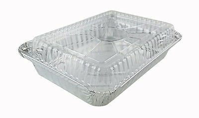"""Handi-Foil 1 1/2 lb Oblong """"Shallow"""" Take-Out Food Storage Container w/Dome Lid"""