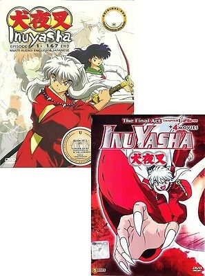 Anime Inuyasha Complete Series + Final ACT + 4 MOVIES ENGLISH DVD DUAL Box Set