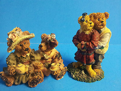 Boyds Bears & Friends Bearstones Collection Lot of 2 Figurines