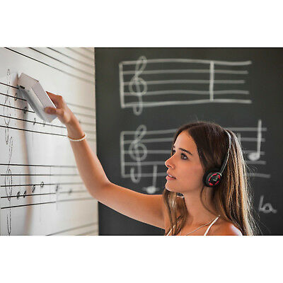 SKIN Magnetic Whiteboard with Printed Music Five-Line Staff (75 x 115 cm Panel)