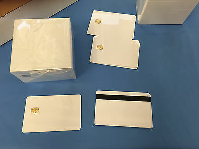 SLE 5542 Contact IC - Small Chip - White PVC Smart Card - HiCo 2 Track - 10 Pack