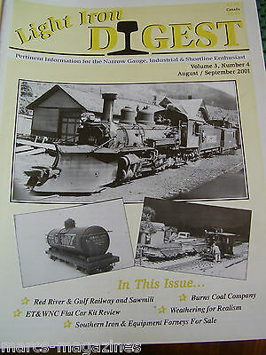 Model Railway Light Iron Digest Aug Sept 2001 Red River & Gulf Burns Coal Co