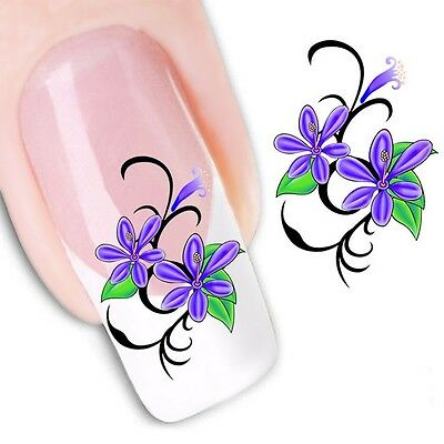 Nail Art Sticker Water Decals Transfer Stickers Flowers Floral (DX1128)