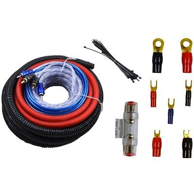 4 Gauge Amp Kit Amplifier Install Wiring Complete 4 GA Installation Cables 1300W