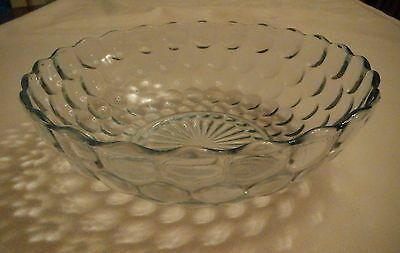 Anchor Hocking/Hocking Glass Company Sapphire Blue Bubble Master Berry Bowl