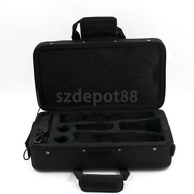 PRO Clarinet Carrying Case Nylon Padded Gig Bag w Side Pocket Shoulder Strap