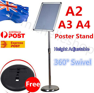 A3 A4 Floor Poster Stand Menu Display Stand Foyer Pedestal Holder Sign SnapFrame