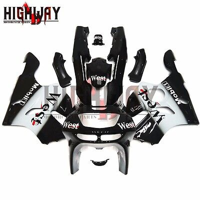 Fairings For Kawasaki Ninja 636 ZX6R 1994-1997 ABS Fairing Kit West Black White