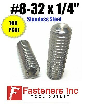 10//32 x 3//16 Qty-1,000 Socket Set Screw Cup Point 18-8 Stainless Steel