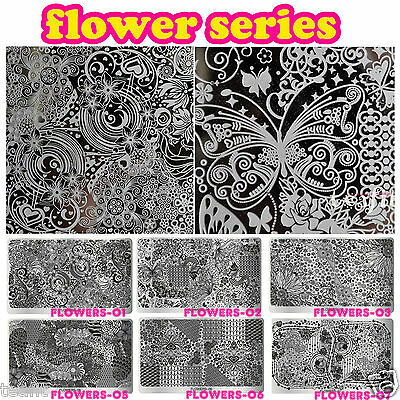 2019 New Stamping Plates Flowers Image Stamp Template Nail Art Design Latest