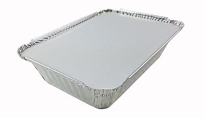 Handi-Foil 2 1/4 lb. Oblong Aluminum Take-Out Food Storage Container w/Board Lid