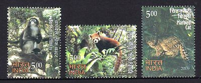 India 2009 Rare Fauna Set 3  MNH
