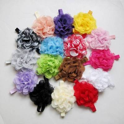 Colorful Lace Flower Headband Hair Bow Band Headwear Accessories For Baby Girls