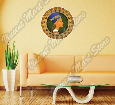 "Nefertiti Egyptian Queen Pharaoh Wife Wall Sticker Room Interior Decor 22""X22"""