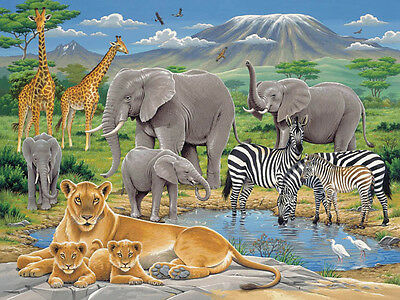 NEW Ravensburger 200pc Jigsaw Puzzle Animals in Africa 8 yr+