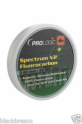 Pro Logic Spectrum V2 Fluorocarbon Fishing Line Hook Length Carp Barbel Coarse