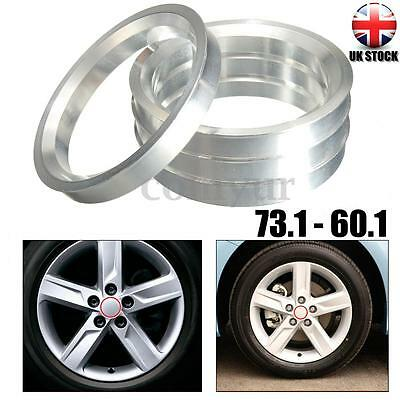 ALLOY WHEELS SPACER Hub Centric Spigot Ring 73.1 - 60.1 For Toyota Lexus Renault
