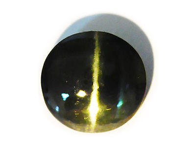 8.99 Cts Certified Loose 100%Natural Round Cut Deep Green Diopside Cats Eye-8034