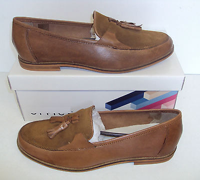 Men's Dockland Tassle Slip On Tan Leather Shoes Loafers New Sizes UK 8 9 11 12