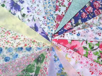 Fabric Bunting Wedding 40ft Vintage Shabby Handmade flower chic Garden 8 11-20m