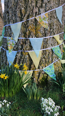 Clearance Handmade Fabric Bunting.shabby Weddings,Chic,Vintage Florals.from £3.