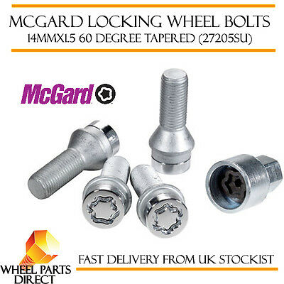McGard Locking Wheel Bolts 14x1.5 Nuts for VW Golf [Mk6] 08-13