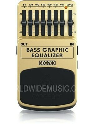 Behringer BEQ700 Bass Graphic Equaliser Guitar Effects Pedal / Stomp Box