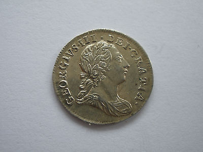 1772 GEORGE III MAUNDY TWOPENCE - 7 over 6 - EF with lustre - UK POST FREE
