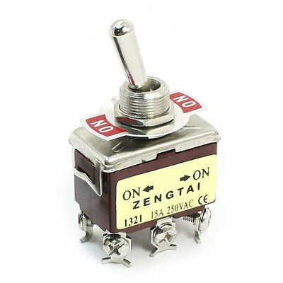 DPDT ON-ON 2 Positions 6 Pin Latching Toggle Switch AC 250V 15A