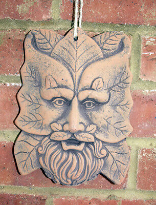 Green Man Wall Plaques Terracotta Garden Ornament for Wall Rectangle New
