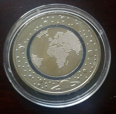 """Germany 5 Euro coin 2016 """"Planet Earth"""" mint G Karlsruhe new uncirculated"""
