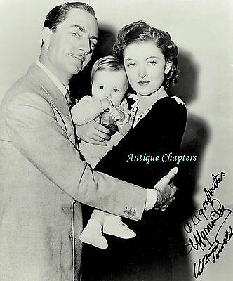 Myrna Loy William Powell Autograph Hand Signed Photograph Another Thin Man 9914